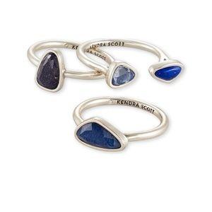 Kendra Scott silver ivy ring set